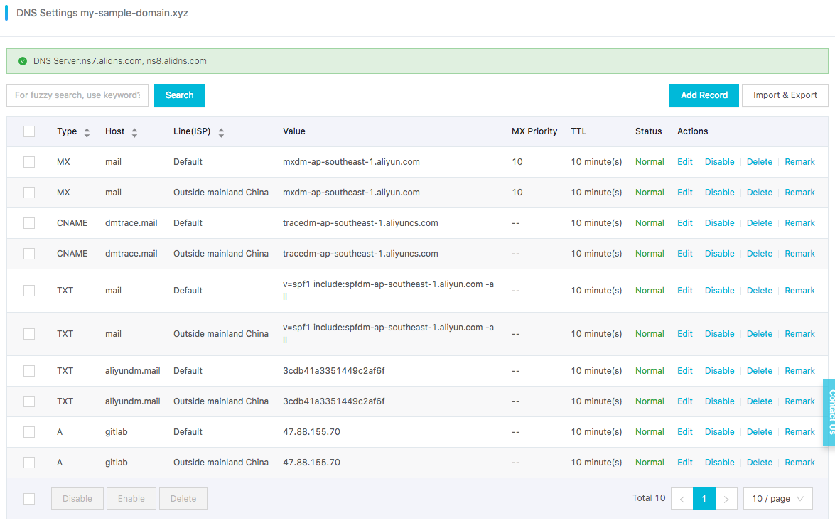 GitLab installation and configuration